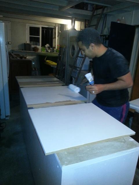 Construction d'un meuble en Chevrons de 8x8 pour bac 200cm 847141IMG20131226212345