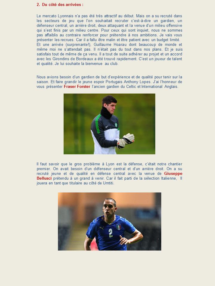 """OLWEB: """"Le site officiel de l'Olympique Lyonnais"""" 847747Diapositive3"""