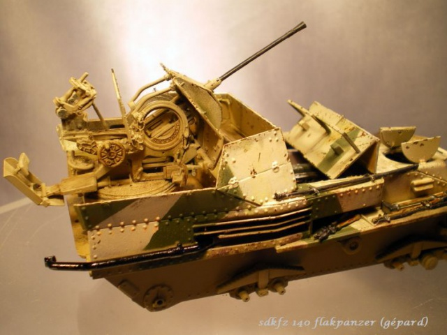 sd.kfz 140 flakpanzer (gépard) maquette Tristar 1/35 848125IMGP3092