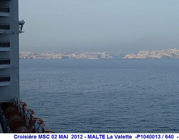 MSC Splendida Du 28 avril au 5 mai 2012 Gêne Barcelone Tunis La valette Taormine Messine Rome 850086P1040013