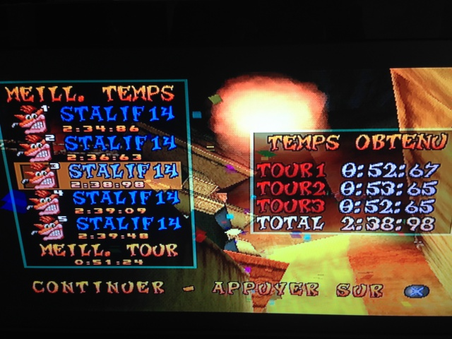 [Jeux Rétrolympiques 2014] Round 3 : Crash Team Racing PS1 851404IMG5780