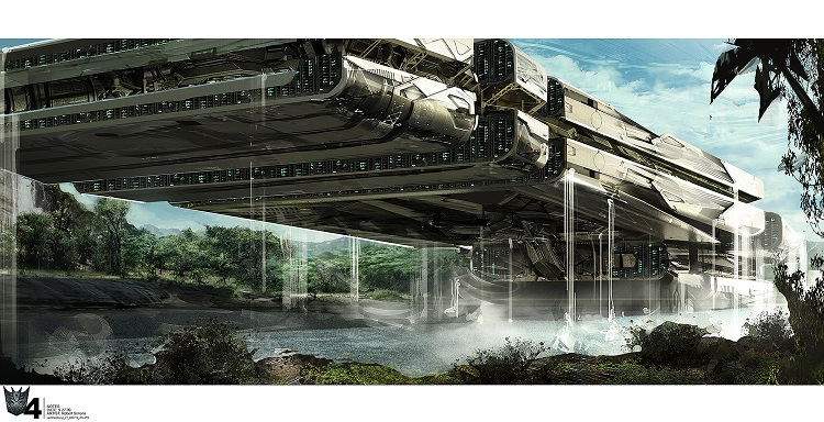 Concept Art des Transformers dans les Films Transformers - Page 3 856301LockdownShip11403881670nightship