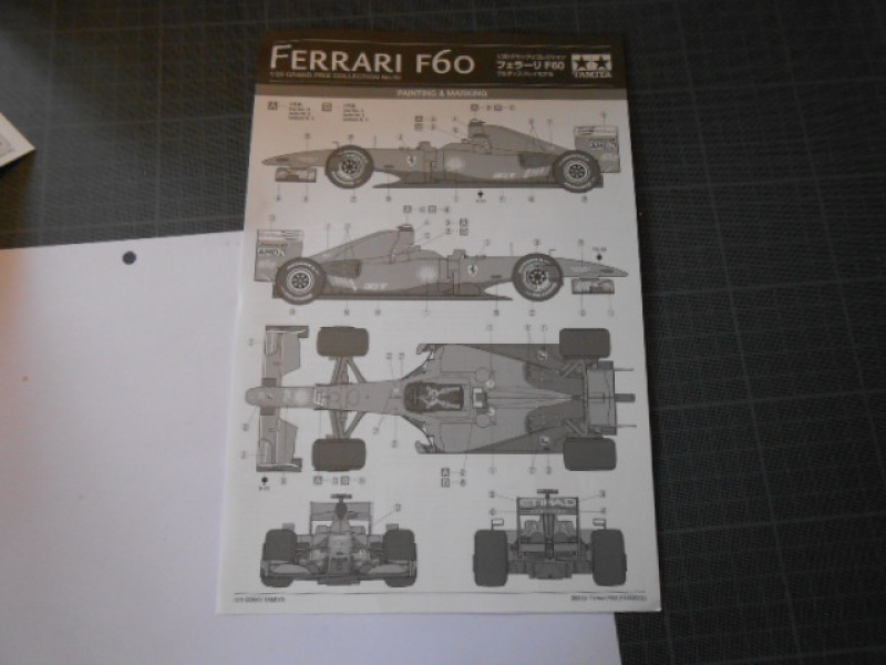 Ferrari  F60  de Tamiya au 1/20° 858130F60010