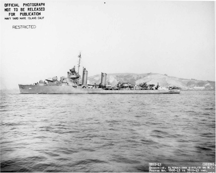 USN DESTROYERS CLASSE MAHAN 858409USSCase1943