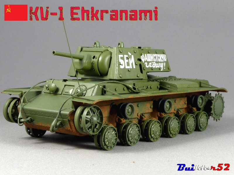 KV-1 Ehkranami  -  TRUMPETER 1/35 - Page 3 861557P1030291