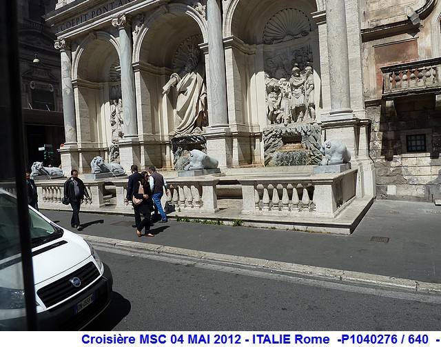 MSC Splendida Du 28 avril au 5 mai 2012 Gêne Barcelone Tunis La valette Taormine Messine Rome 866322P1040276