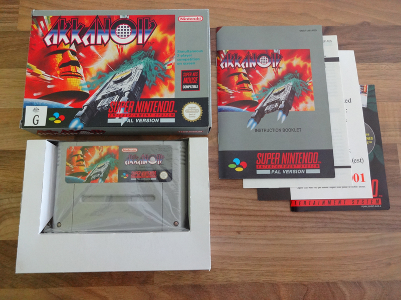Prupru's Collection ! 100% Super Nintendo et 200% Super Comboy !! - Page 18 868236ArkanoidAUS