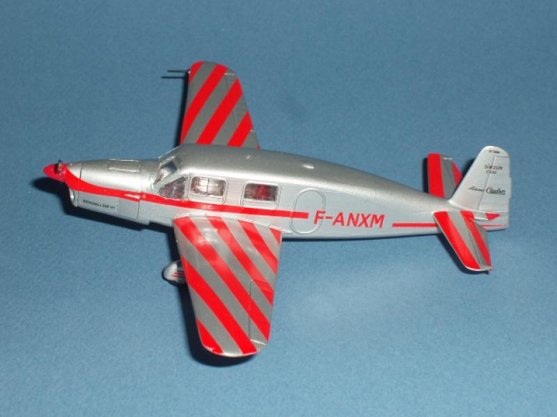 CAUDRON C-635 Simoun  (version Raid Paris-Tokyo). 1937  Heller 1/72. 874632caudronraid012