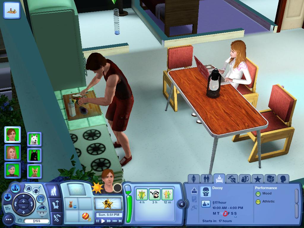Les Sims ... Avec Kimy ! 876437KimybosseetStantentedefaireunesalade