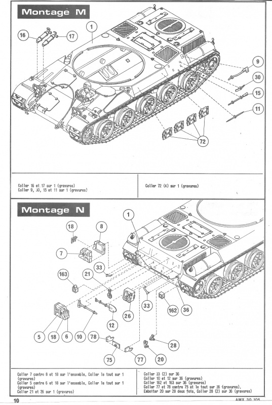 AMX 30 canon de 105 - (Réf. L810) 1/35 879321HellerAMX30105810010