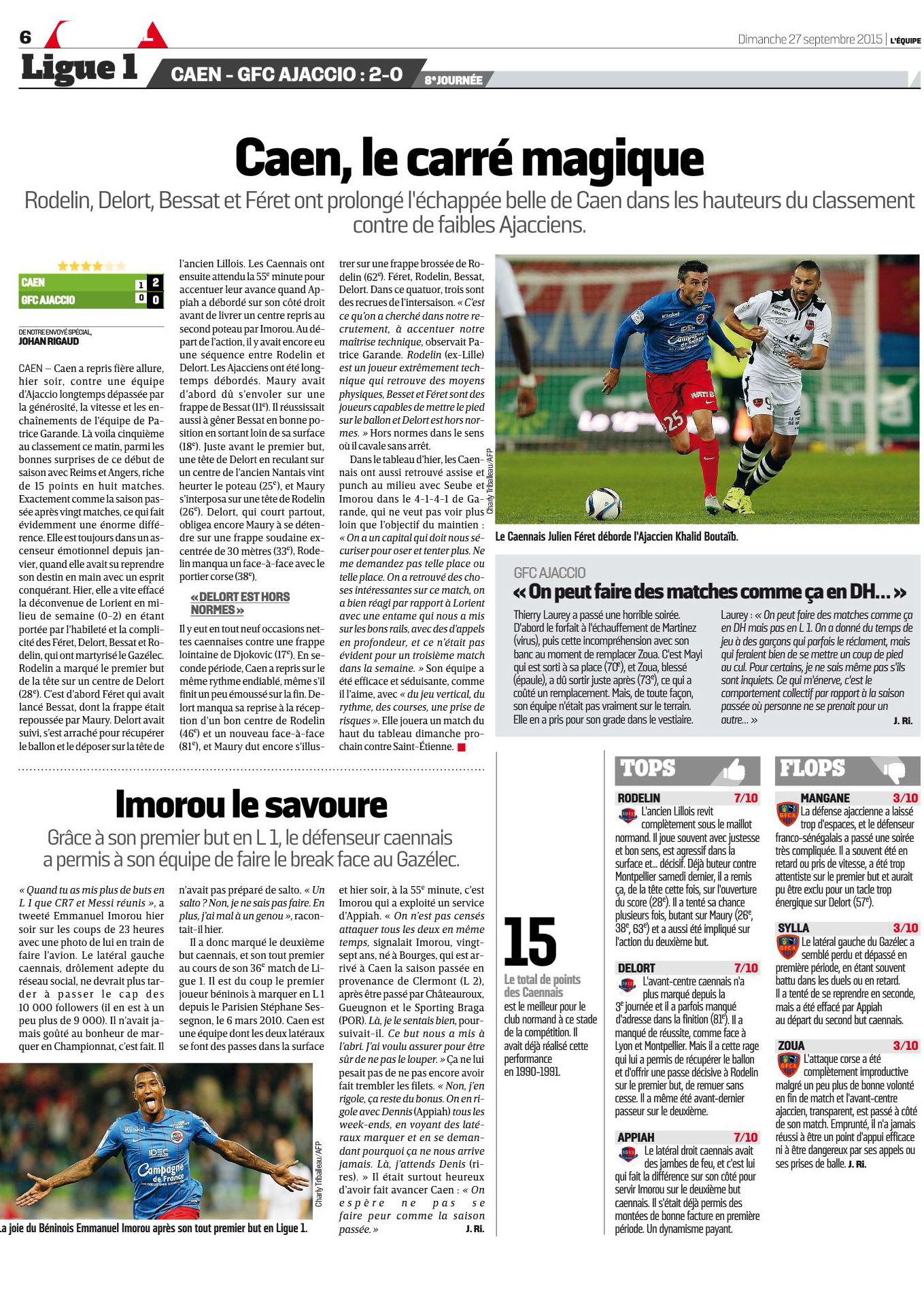 [8e journée de L1] SM Caen 2-0 GFC Ajaccio 884936Ajaccio