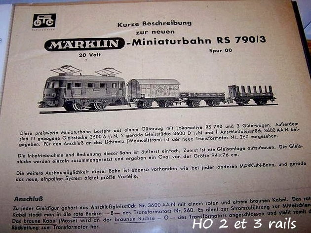 Coffrets Märklin 1936 - 1968 (rouges, noirs, verts ou bleus) 885796MarklinzugpackungRS7903grisnoticeR