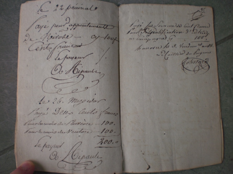 Consulat : Livret de solde Armée d'Hanovre An 12 891453P6303122