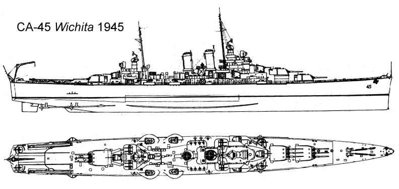 USN CROISEUR LOURD USS WICHITA 892666USSWichitaCA45CT