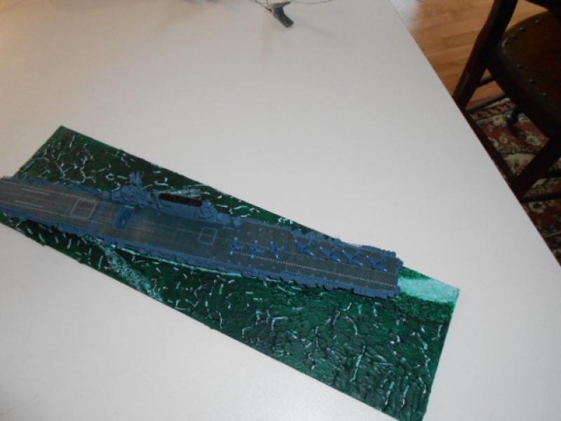 Le Saratoga 1/700 Tamiya pont en bois + PE 893013sar004