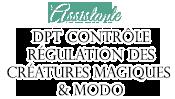 Assistante du service de contrôle et de régulation des créatures magiques & Modératrice
