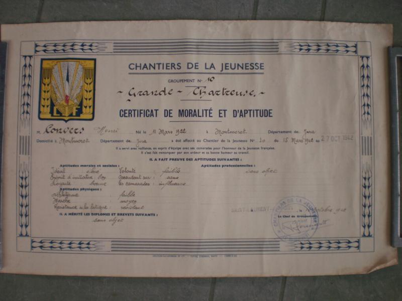 Certificat de Moralité et d'Aptitude Groupement 10 895747P2261646