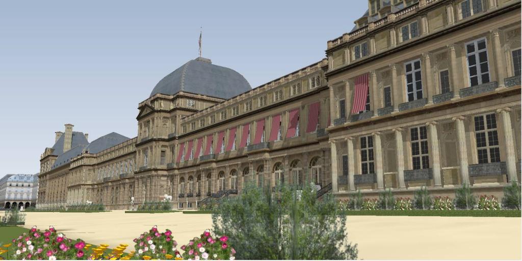 Reconstitution virtuelle du Palais des Tuileries, états Premier Empire et Second Empire - Page 2 896419vuefacadeavecstores