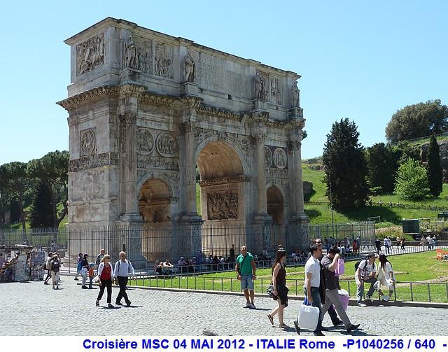 MSC Splendida Du 28 avril au 5 mai 2012 Gêne Barcelone Tunis La valette Taormine Messine Rome 898546P1040256