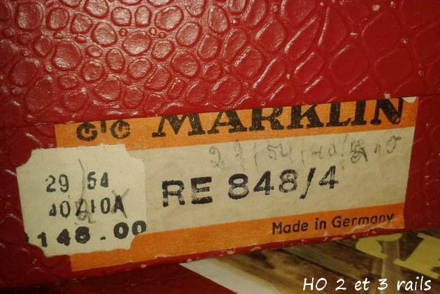 Coffrets Märklin 1936 - 1968 (rouges, noirs, verts ou bleus) 900084MarklincoffretRE8482R