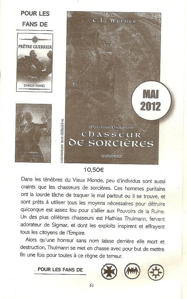 Mathias Thulmann - T1 Chasseur de Sorcières de C.L. Werner 913259chasseur