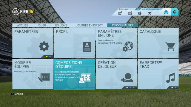 Tutorial FIFA - Sauvegarder sa tactique et composition d'équipe personnalisée. 915693FIFA16danslesmenus4