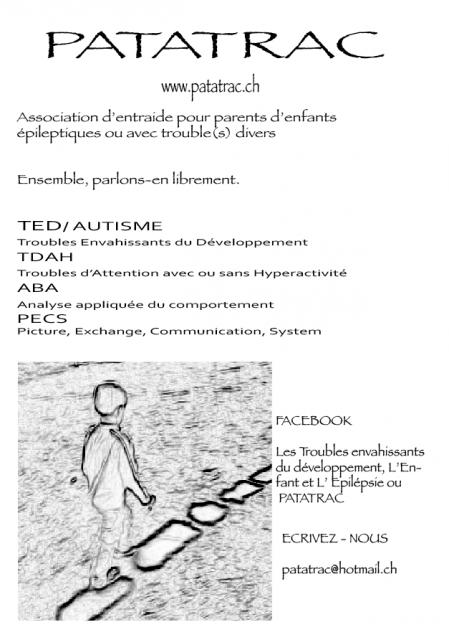 patatrac. Assoc. épilepsie, TED,TDAH 917543affiche72011