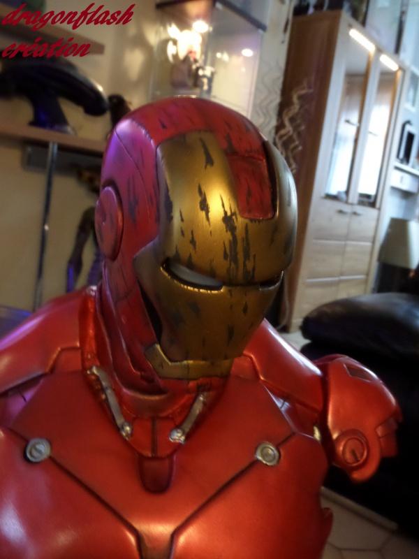 dragonflash création : buste iron man 1/2  (+-40 cm de haut) le final 9175546837