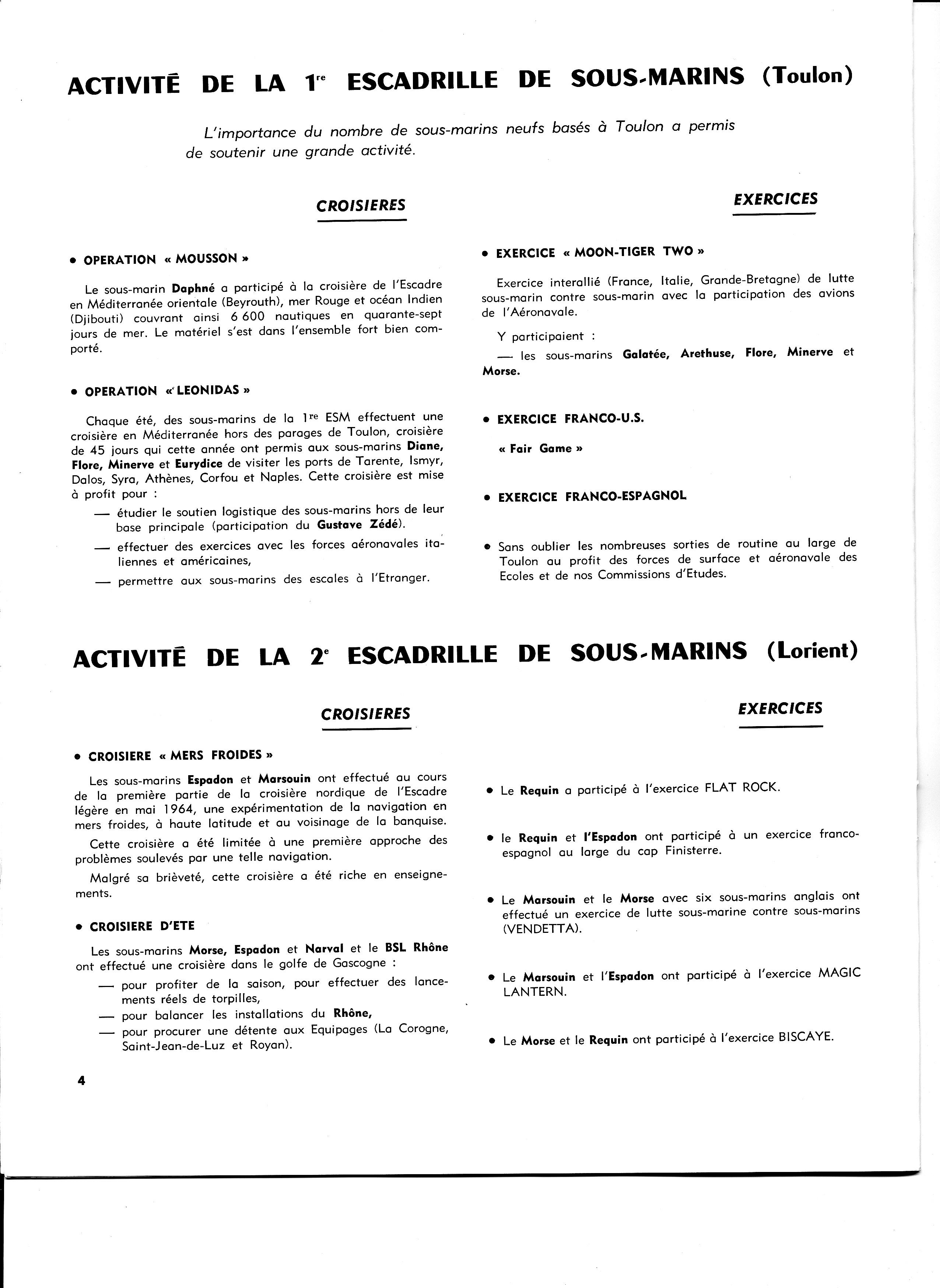 [ Divers - Les classiques ] Les 1ère et 2ème Escadrilles en 1965 924036plonge4