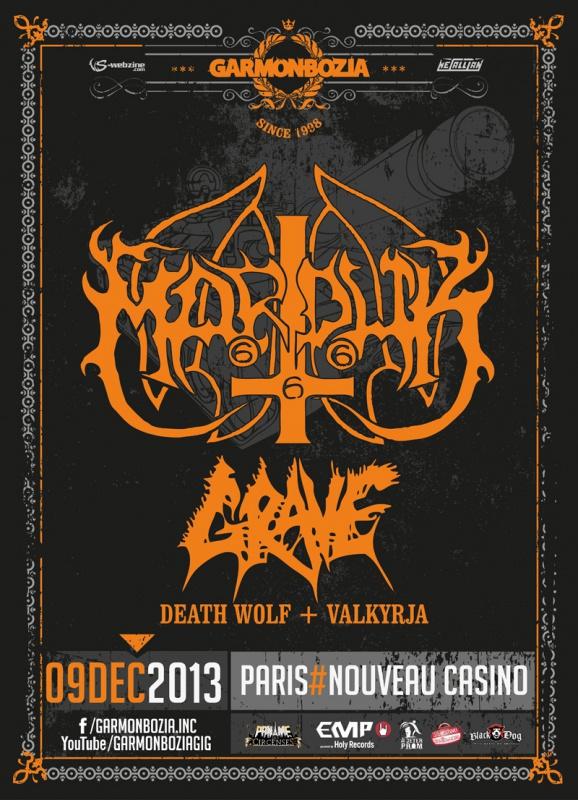 09.12 - Marduk (special set) + Grave + .. @ Paris 92691420131209Marduk