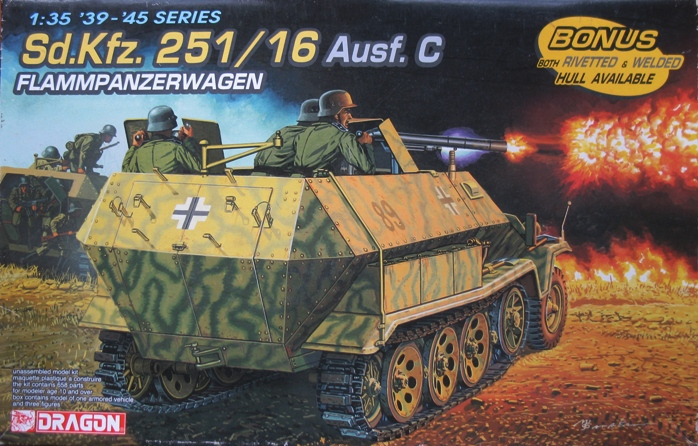 sd.kfz 251/16 flammpanzerwagen  Dragon 1/35 928351modles110001
