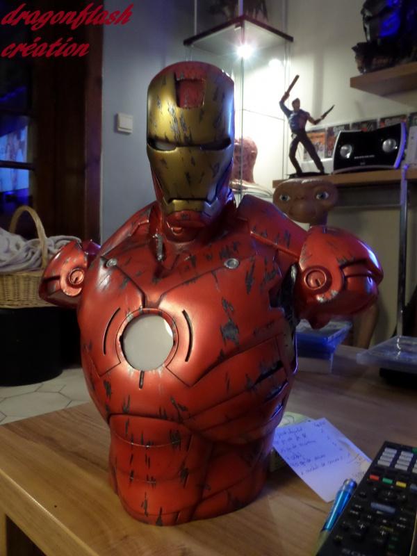 dragonflash création : buste iron man 1/2  (+-40 cm de haut) le final 9394044849