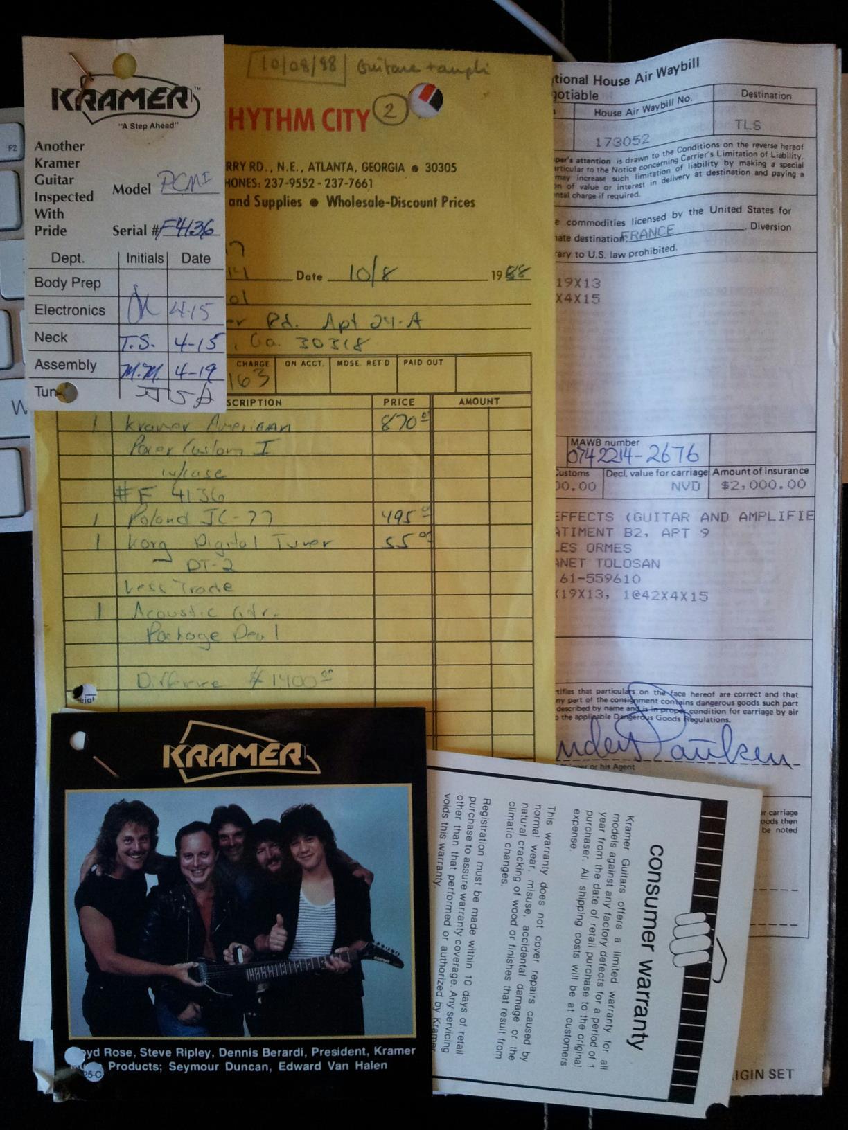 Kramer forever !!! Pacer Custom 1 in Flip Flop Red !!! 94714717861145131184401701410064135o