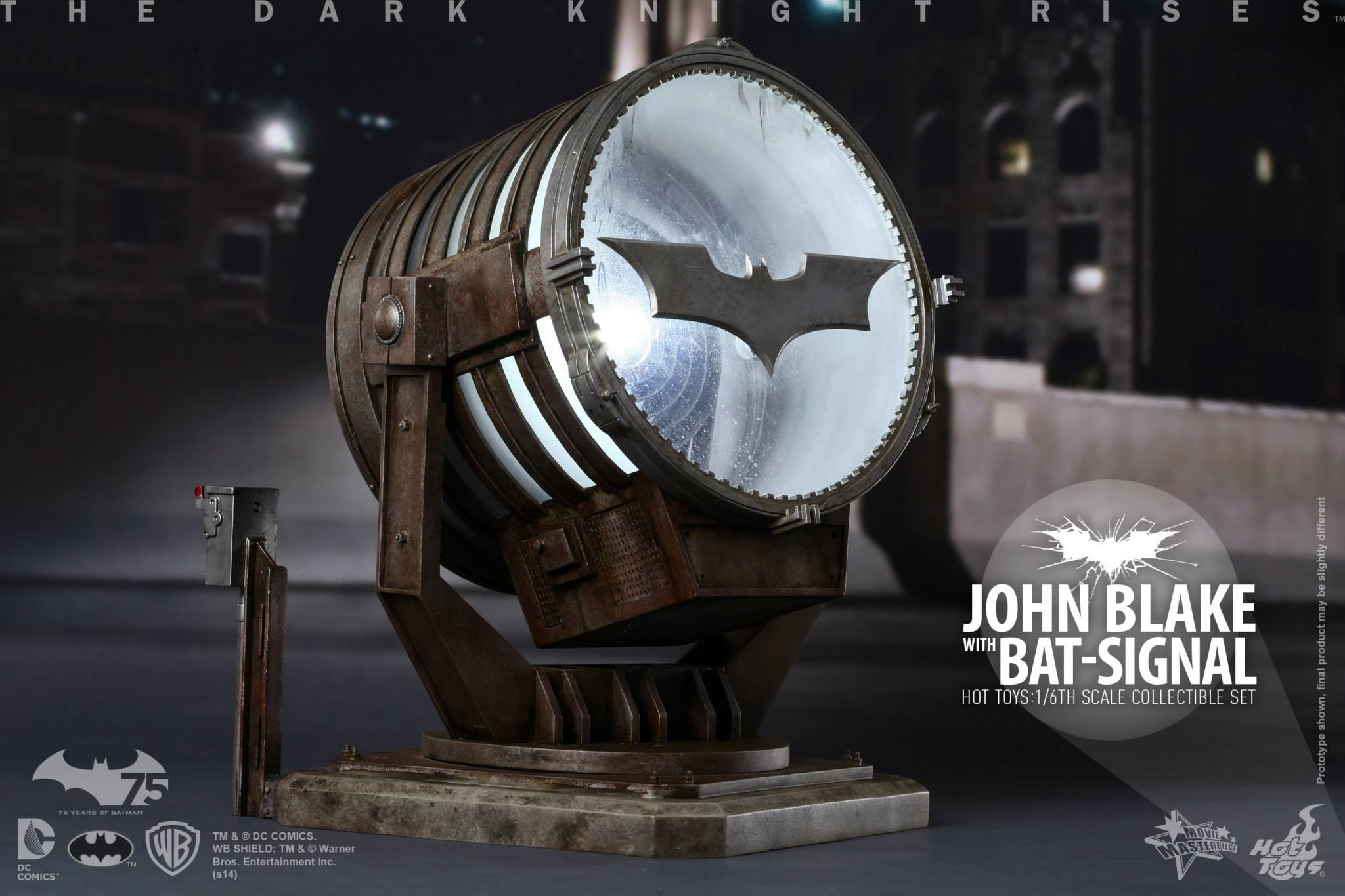THE DARK KNIGHT RISES - Lt. JIM GORDON & JOHN BLAKE w/BATSIGNAL 950716103