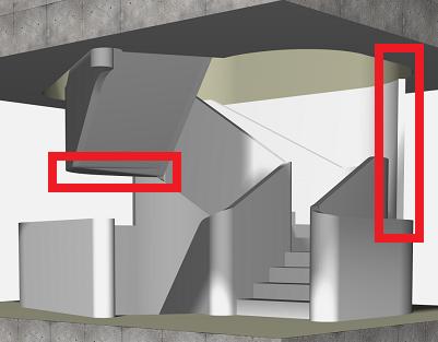 """Challenge thème : """"modélisation et rendu d'une maison atypique"""" - Silk37 & SB - ArchiCAD 17 - 3DS/V-Ray - Photoshop 962142OLSHouseEscalierVue11"""