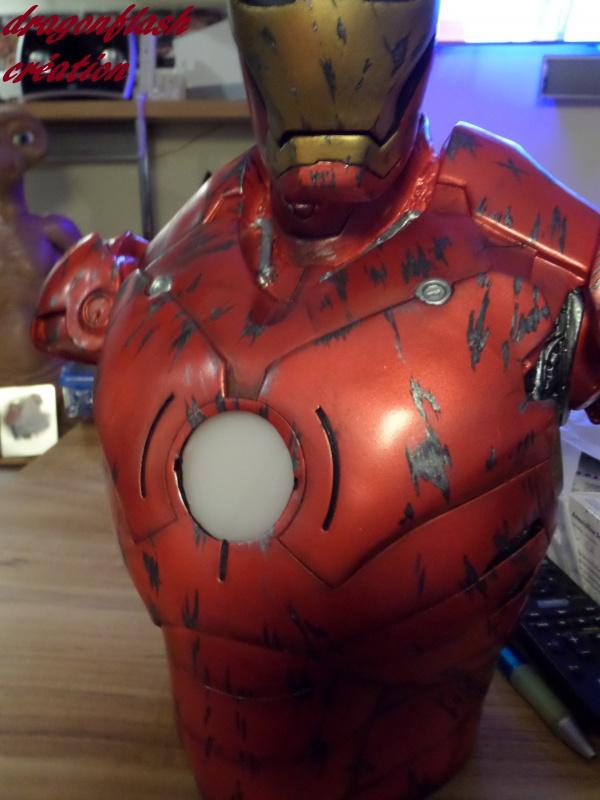 dragonflash création : buste iron man 1/2  (+-40 cm de haut) le final 9642332953