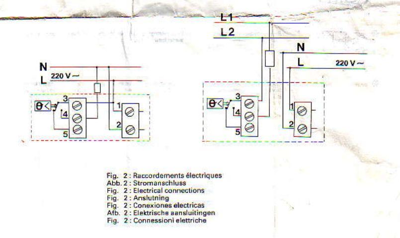 Problème branchement programmateur chauffage 972056shma