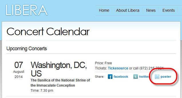 Washington DC - Concert & tournage de DVD: 7 août 2014 972690Posterlinklocation