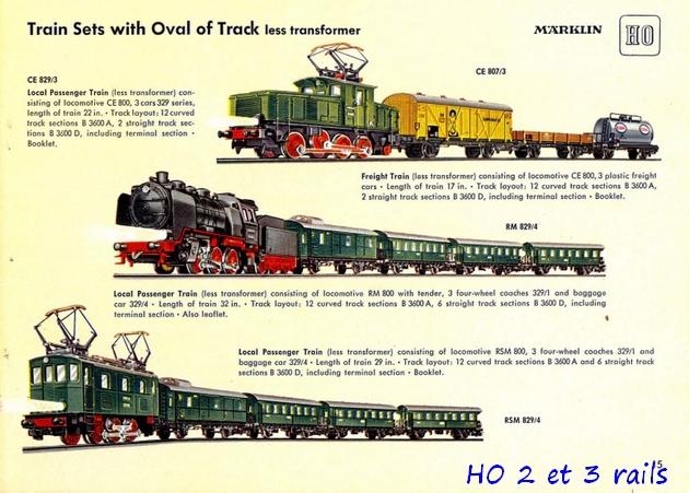 Coffrets Märklin 1936 - 1968 (rouges, noirs, verts ou bleus) 974333Marklincatalogue19532R