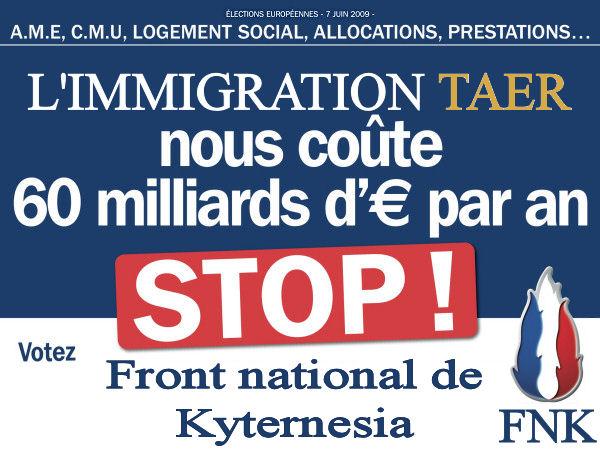 Ebauches de la nouvelle map de guerre 975601afficheeuropeennesstopimmigration