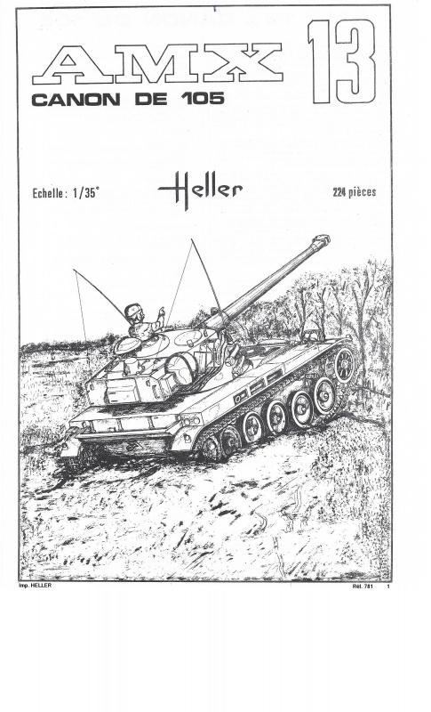 AMX 13 Canon de 105 [ Heller ] 1/35 97801113105001