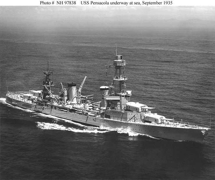 USN CROISEUR LOURD USS WICHITA 981093USSPensacolaCA24