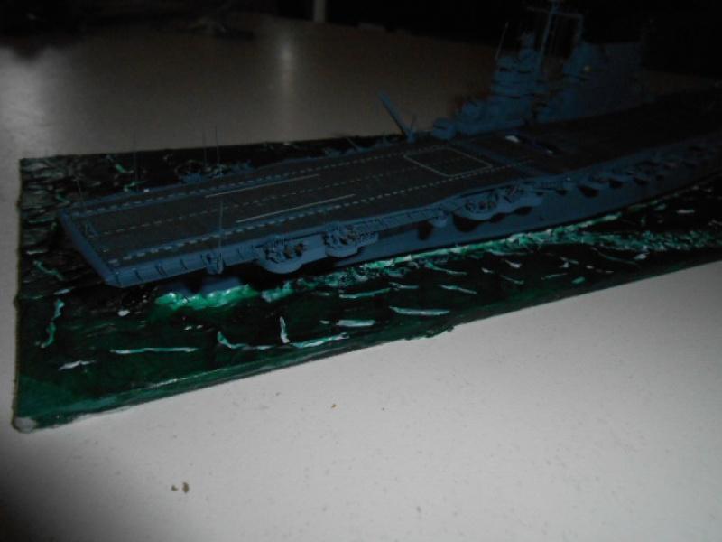 Le Saratoga 1/700 Tamiya pont en bois + PE 988420sar002