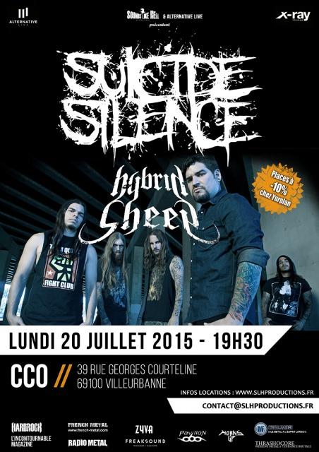 20.07 SUICIDE SILENCE + HYBRID SHEEP @ Lyon (CCO) 990726SSLyon