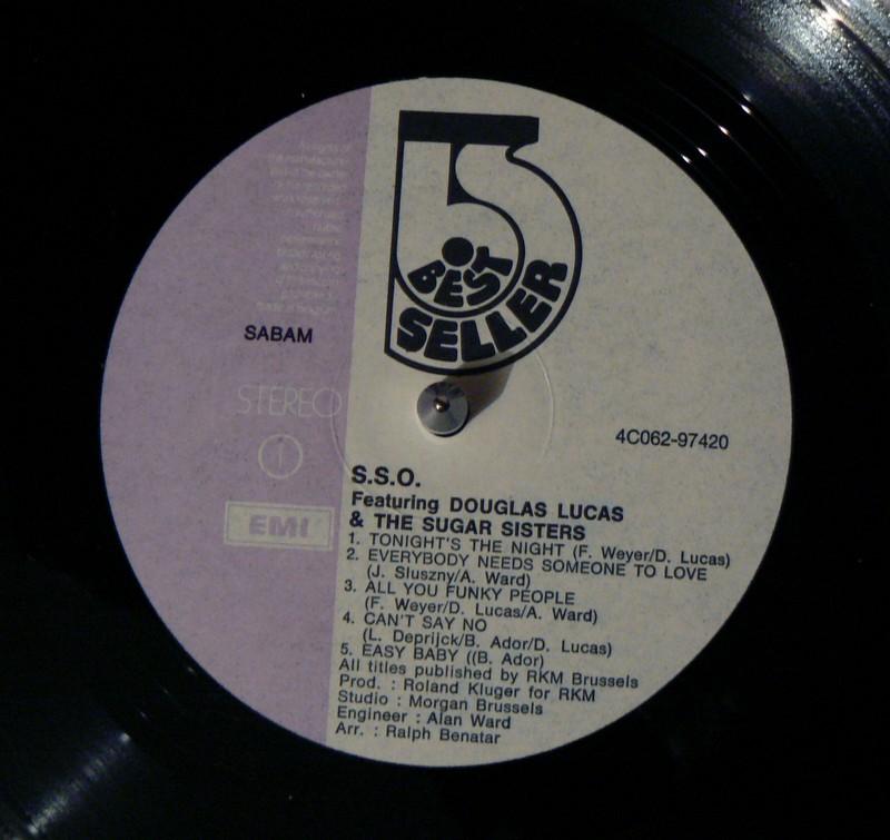 S.S.O Featuring Douglas LUCAS - Tonight's the Night (LP) 993350ssomacaron