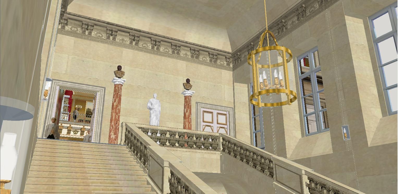 Reconstitution virtuelle du Palais des Tuileries, états Premier Empire et Second Empire 993924marchaux7