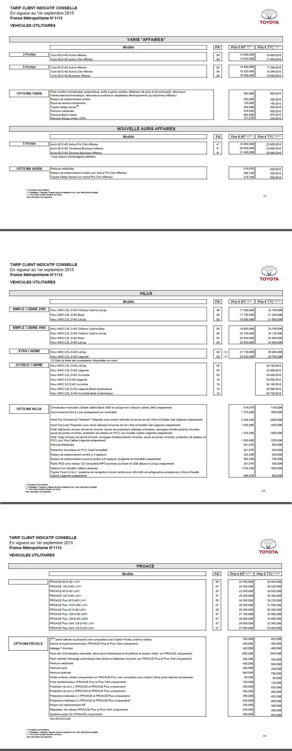 Nouveau tarif Toyota 9974922015tarifToyota2
