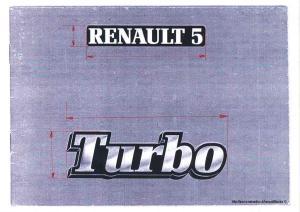 logo RENAULT 5 + Turbo Mini_161943201407281536469150001