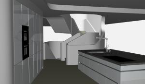 """Challenge thème : """"modélisation et rendu d'une maison atypique"""" - Silk37 & SB - ArchiCAD 17 - 3DS/V-Ray - Photoshop Mini_316549OLSHouseCuisinevue1"""