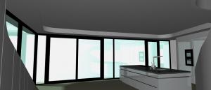 """Challenge thème : """"modélisation et rendu d'une maison atypique"""" - Silk37 & SB - ArchiCAD 17 - 3DS/V-Ray - Photoshop Mini_573082OLSHouseCuisinevue2"""